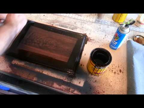 Furniture Finishing! Shadow effect spray paint!