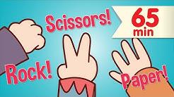 Rock Scissors Paper + More   Kids Songs & Nursery Rhymes   Super Simple Songs