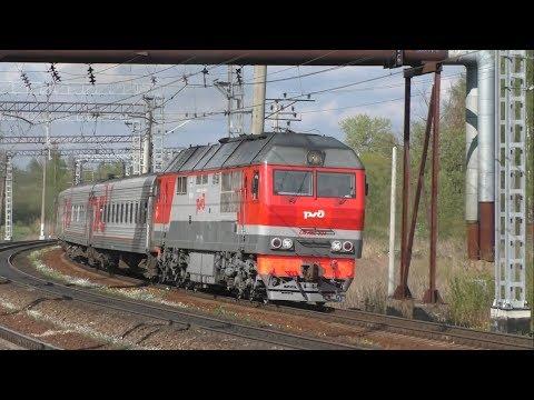 ТЭП70БС-234 с поездом №203 Санкт-Петербург – Ярославль на перегоне Павловск – Новолисино