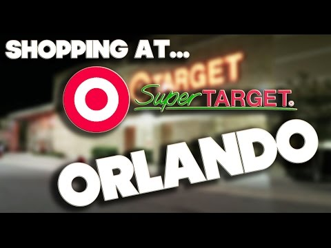 SHOPPING AT - SUPER TARGET - ORLANDO