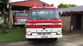 Qld Fire Service fleet 328, 1970 Ford D400 pumper.