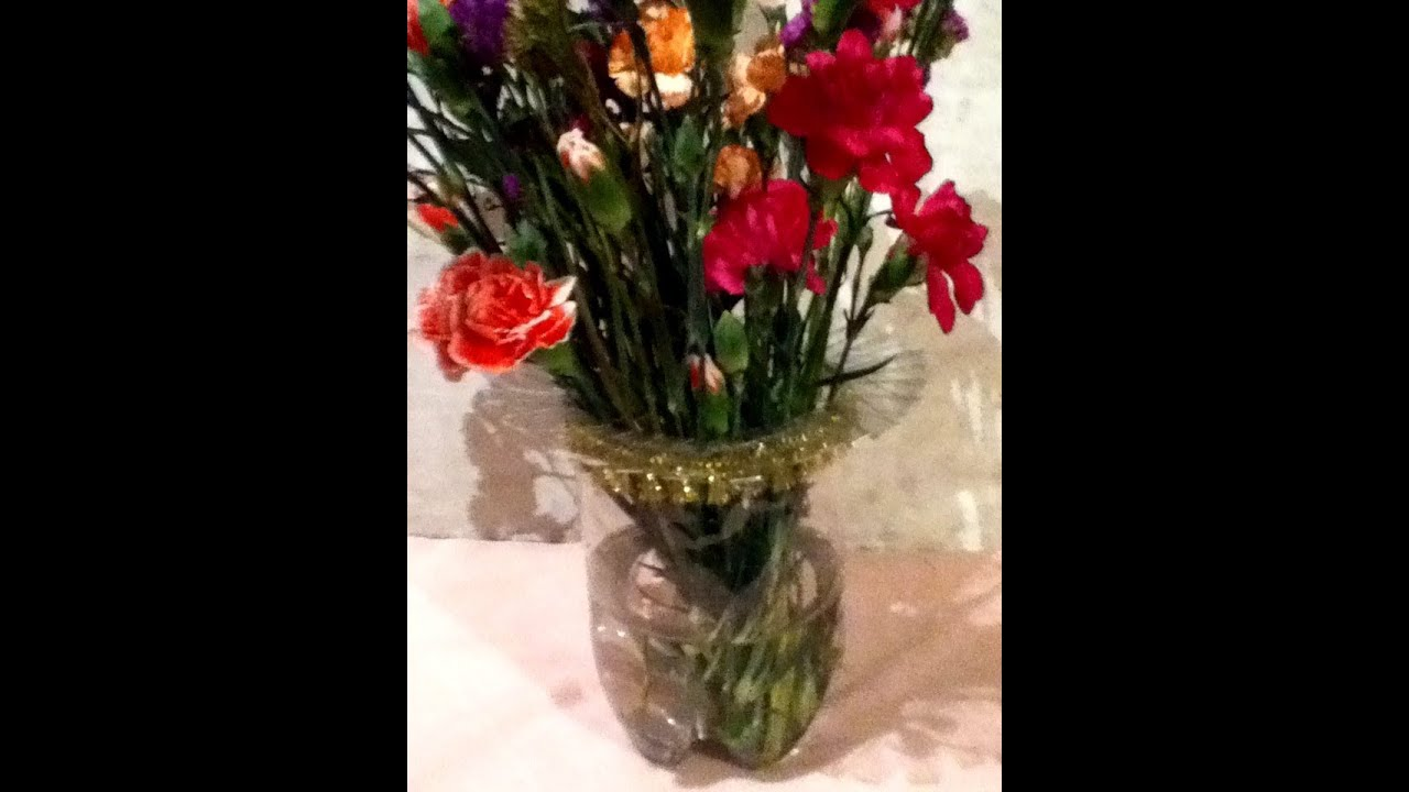 Florero Pet Reciclaje Botella De Pl 225 Stico Liston F 225 Cil Plastic Bottle Vase Youtube