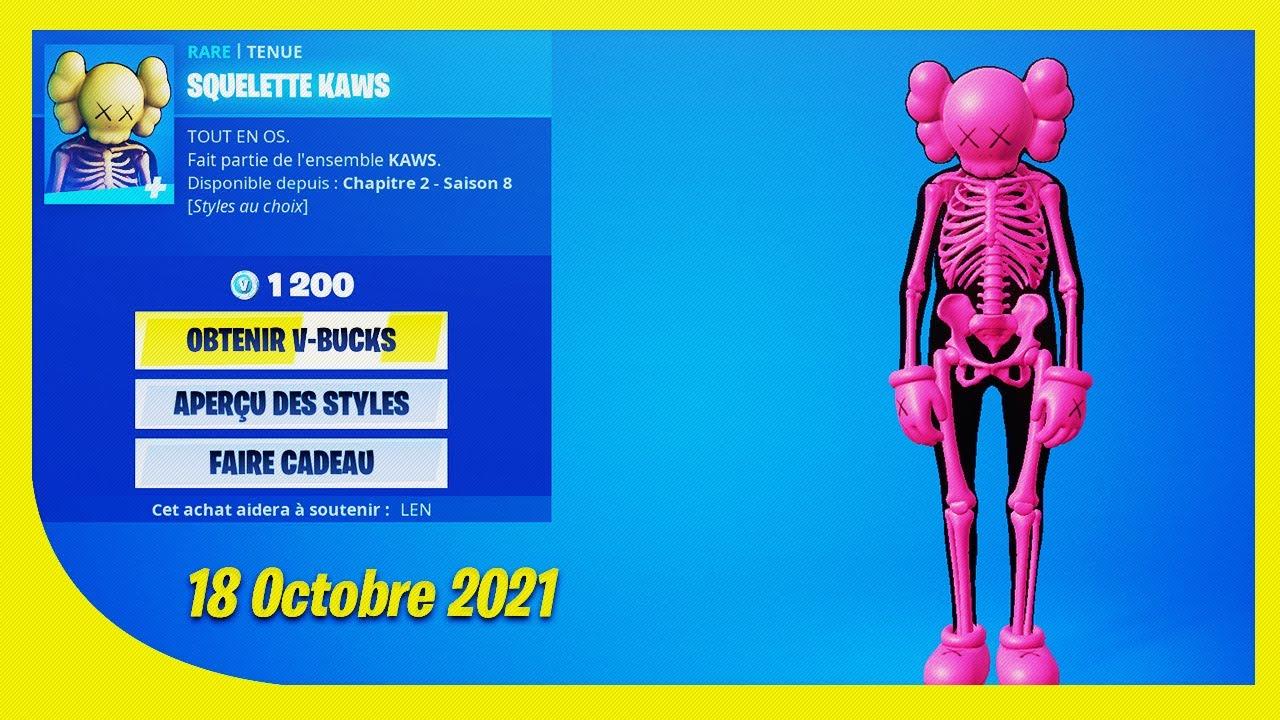 Download BOUTIQUE FORTNITE du 18 Octobre 2021 ! ITEM SHOP October 18 2021 !
