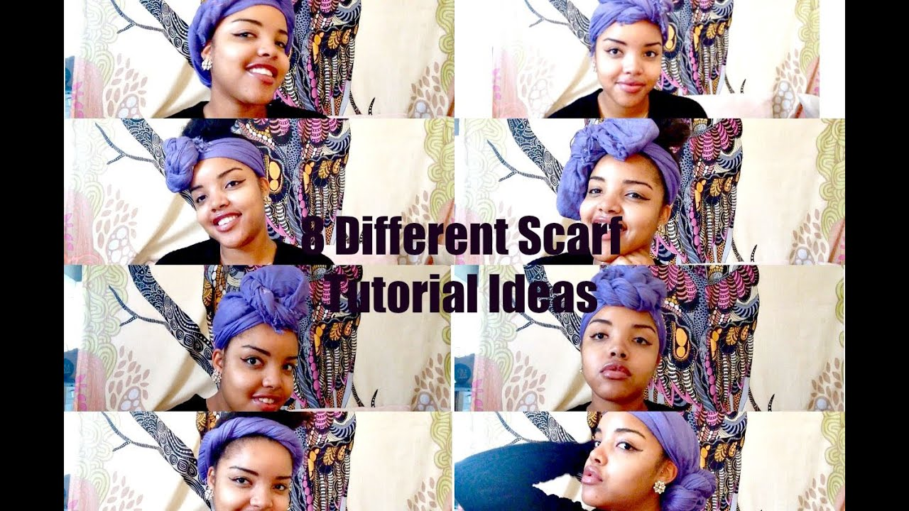 How To Tie A Scarf 8 Tutorial Ideas Natural Hair Youtube