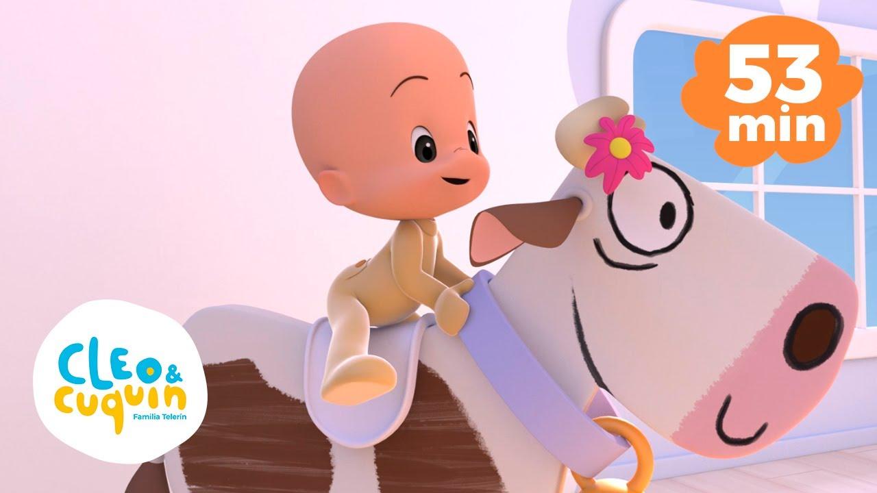 La Granja de mi tío y más canciones infantiles con Cleo y Cuquin | Familia Telerin