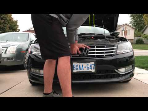 How to remove a b7 passat headlight/grill *cheap n' easy headlight fix*