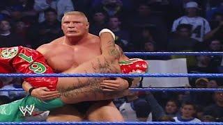 Rey Mysterio vs Brock Lesnar  - 12_11_2003 WWE SmackDown | World Wrestling Entertainment YT