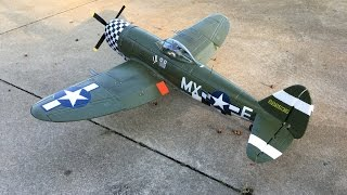 e flite p 47d thunderbolt history weathering and detailing