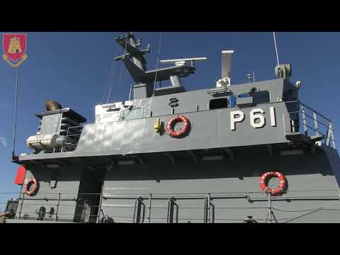 Inauguration ceremony marking the upgrade of offshore patrol vessel P61