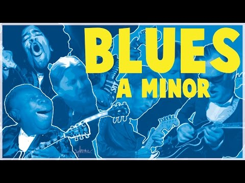 Blues Backing Track in A Minor