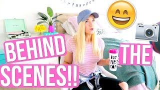 BEHIND THE SCENES OF MY REAL MORNING ROUTINE!!!