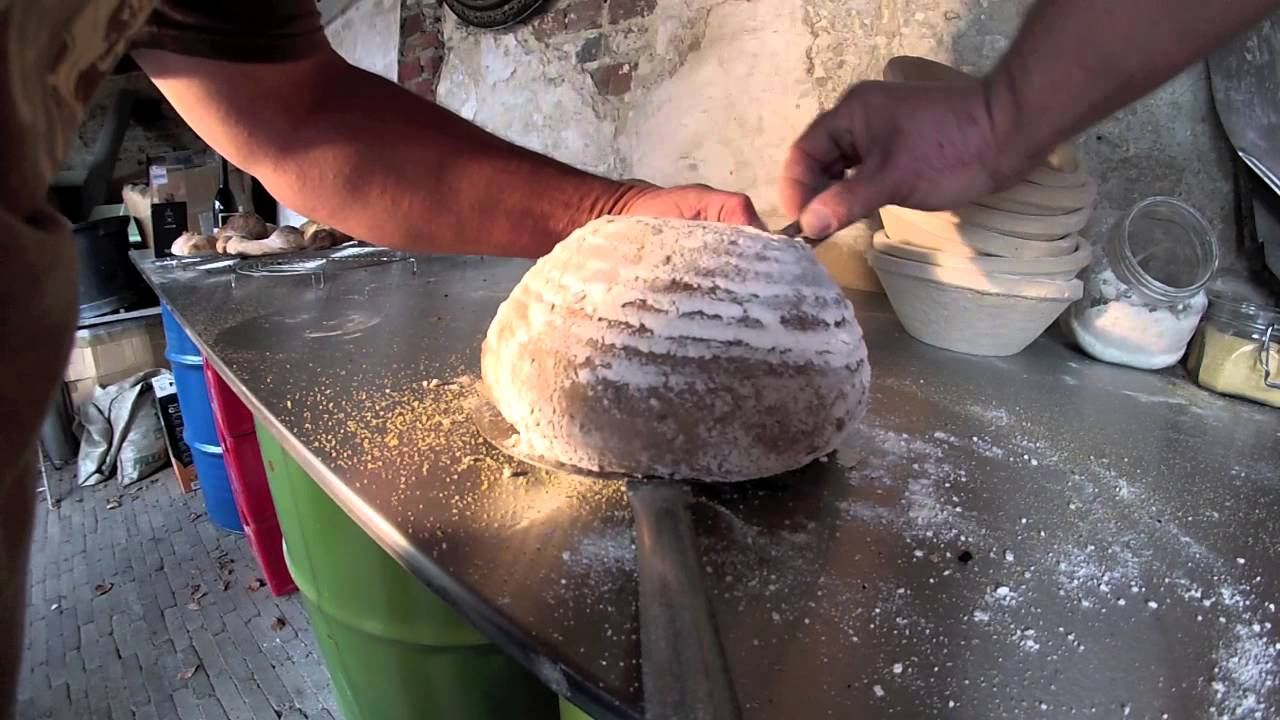 Baking Bread In A Wood Fired Oven Youtube