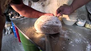 Baking Bread in a wood fired oven