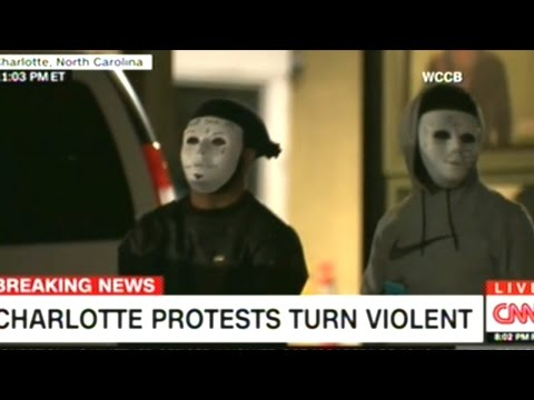 Coverage Of Rioting In Charlotte North Carolina