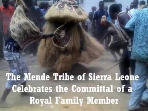 Mende Secret Poro Society of Sierra Leone -  Burial Ceremony of Albert Kanneh Jambai
