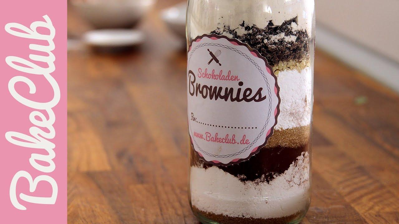 brownie backmischung im glas mit etiketten bakemyday youtube. Black Bedroom Furniture Sets. Home Design Ideas