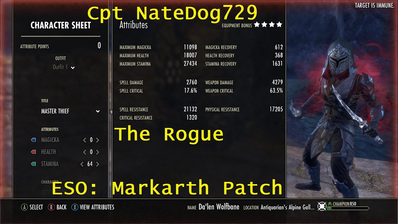 Eso The Rogue Stamina Nightblade Pve Build Markarth Patch Stamina Patches Rogues The elder scrolls online markarth dlc