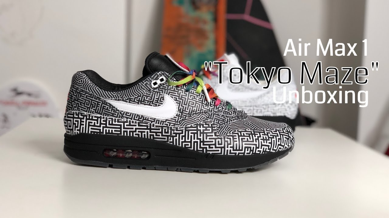 ON AIR - Nike Air Max 1 'Tokyo Maze' Sneaker Unboxing — Pint of Stuff
