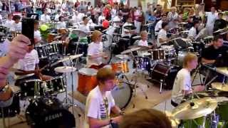 Rekord Polski w masowej grze na zestawach perkusyjnych Zamość 2013
