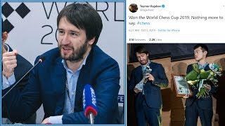 """""""Won the world chess cup. Nothing more to say."""" World Cup Final 