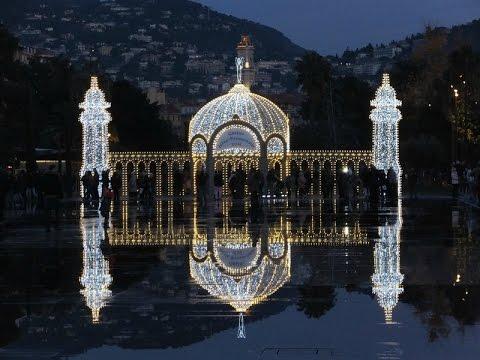 Nice  - Place Masséna un soir de décembre