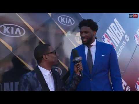 Joel Embiid   NBA Awards Show Red Carpet Interview