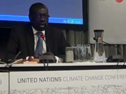 COP15: G77 Chief Negotiator Lumumba Di-Aping on 350ppm and 2 degrees C