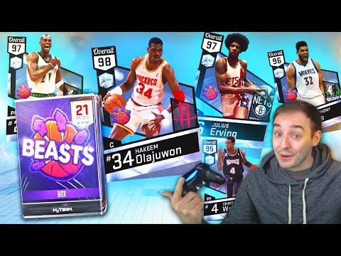 NBA 2K17 My Team THESE CARDS ARE INSANE OMG! BEASTS PACK OPENING!
