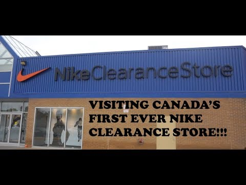 Visiting Canada's FIRST EVER Nike Clearance Store (Dixie Outlet Mall)