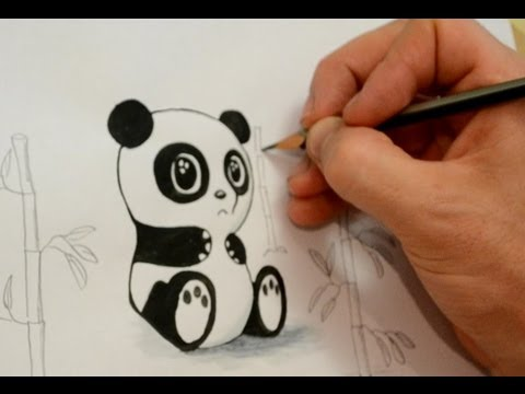 Draw a cartoon panda quickly and easily