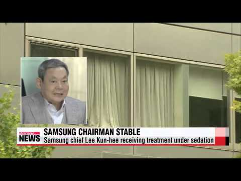 Samsung chief Lee Kun-hee receiving treatment under sedation