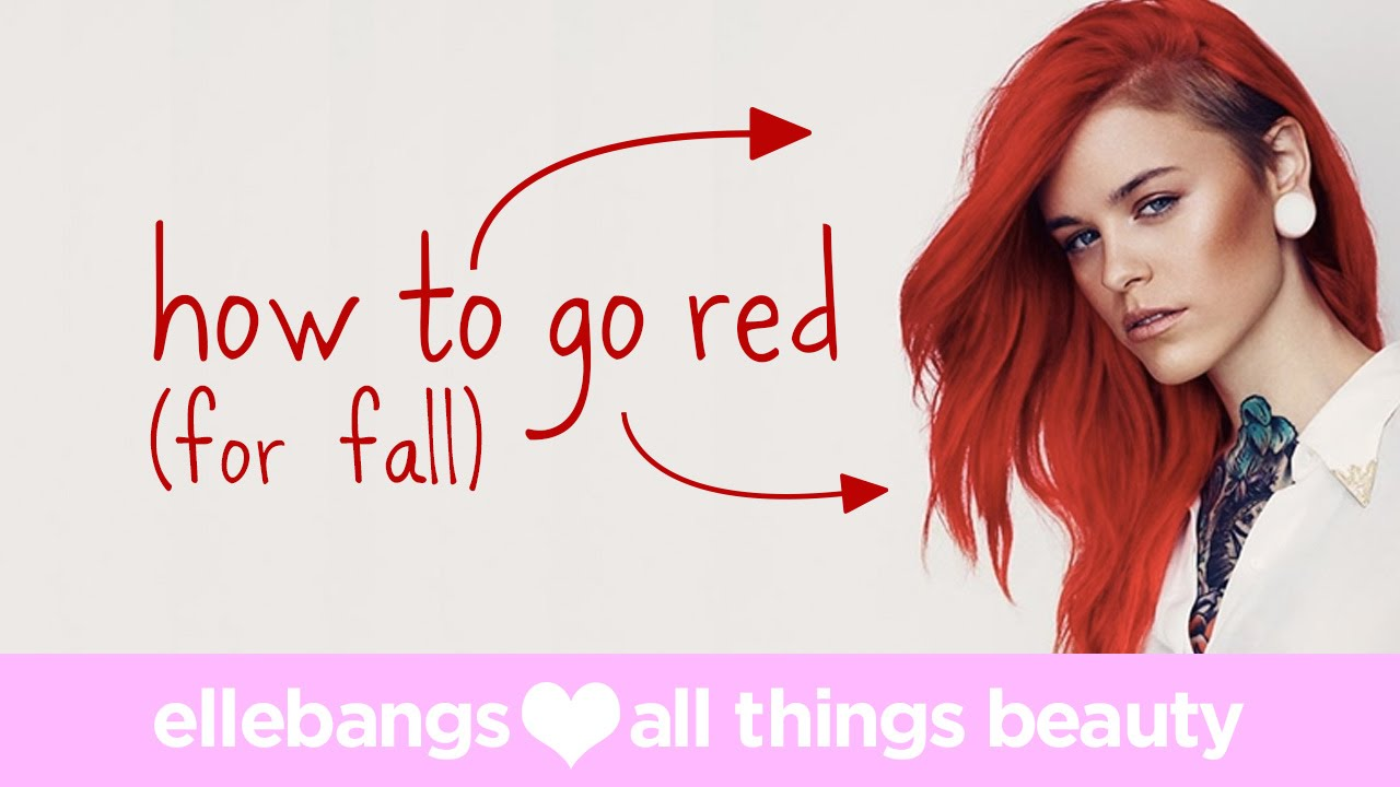 How To Color Your Hair From Blonde To Red Youtube