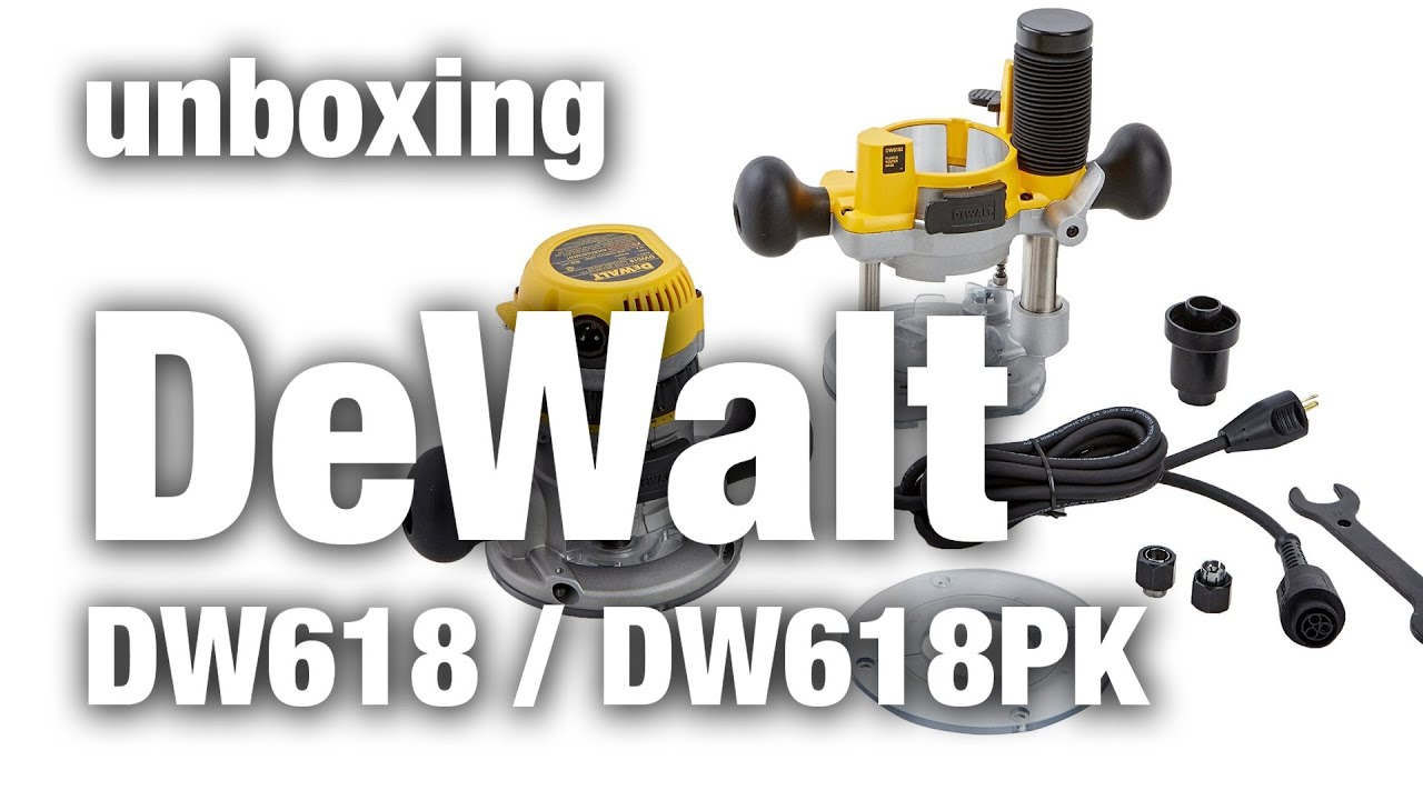 Unboxing the dewalt dw618 dw618pk youtube unboxing the dewalt dw618 dw618pk greentooth Images