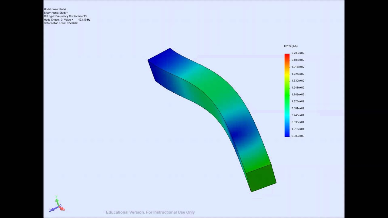 Beam frequency analysis solidworks youtube beam frequency analysis solidworks ccuart Gallery