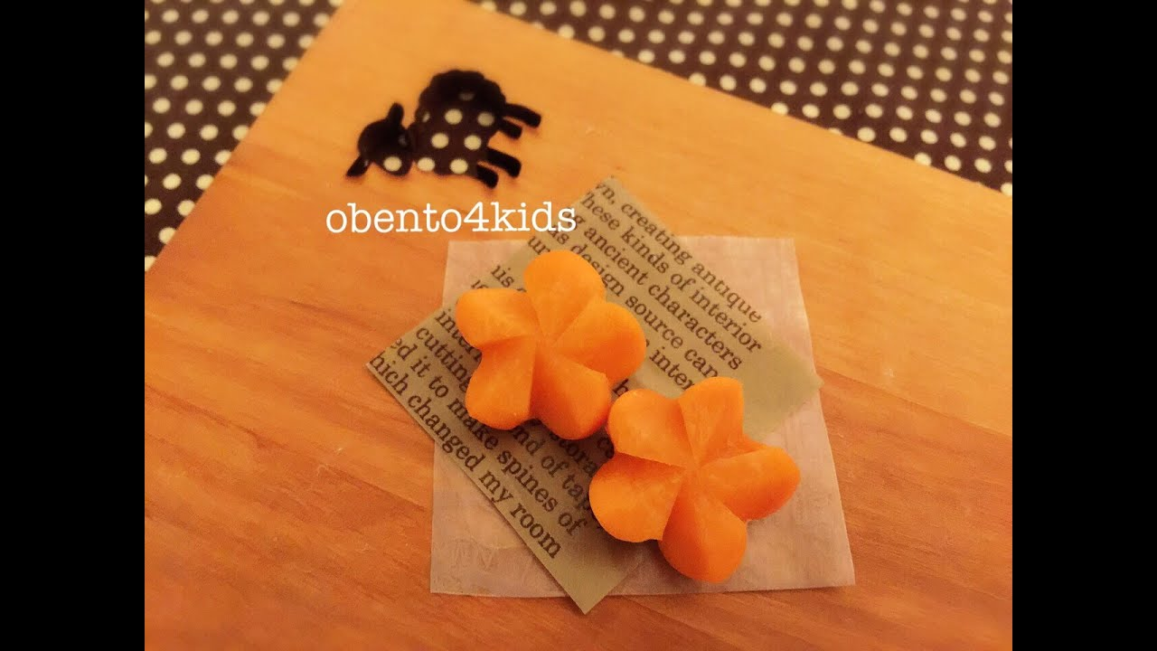 easy and cute how to cut carrot to 3d flower shape ����