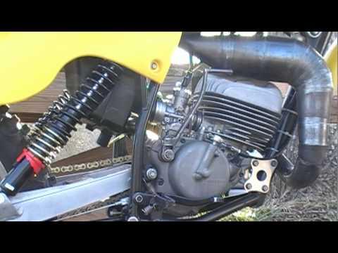 Suzuki RM125 N cold start and test ride 1979