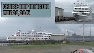 Northern Pulp And Cruise Ship in Pictou