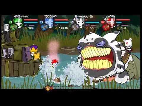 Castle Crashers - XBOX 360 - XBLA - xISOmaniac - Gunblade 28 - TDOG805 - zim578 - 4 Player Co-op