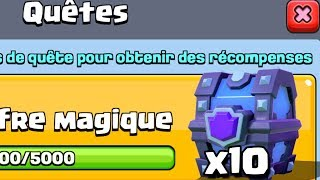 Clash Royale EPIC PACK OPENING MAIS COMBIEN DE LEGENDAIRE ?!! COFFRE SUPER MAGIQUE GRATUIT