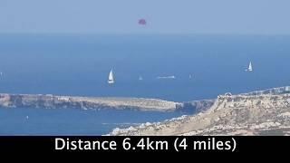 Nikon P1000 zoom long range test with distances measured.