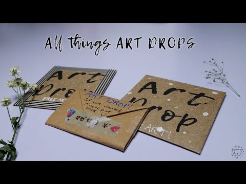 All Things ART DROPS || Tutorial On How I Make Mine.