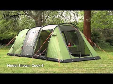 Zelt, Tunnelzelt, Coleman Cook 4 Personen, Camping in