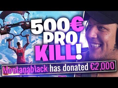 6000€ an kleine Fortnite Streamer Spenden | SpontanaBlack