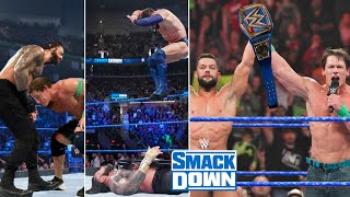 John Cena Attacks Roman reigns to HELP Finn Balor Win Universal Championship at WWE Smackdown 2021