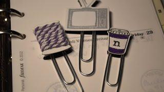 Cute Personalized Paperclips for Filofax/Planner/Organizer