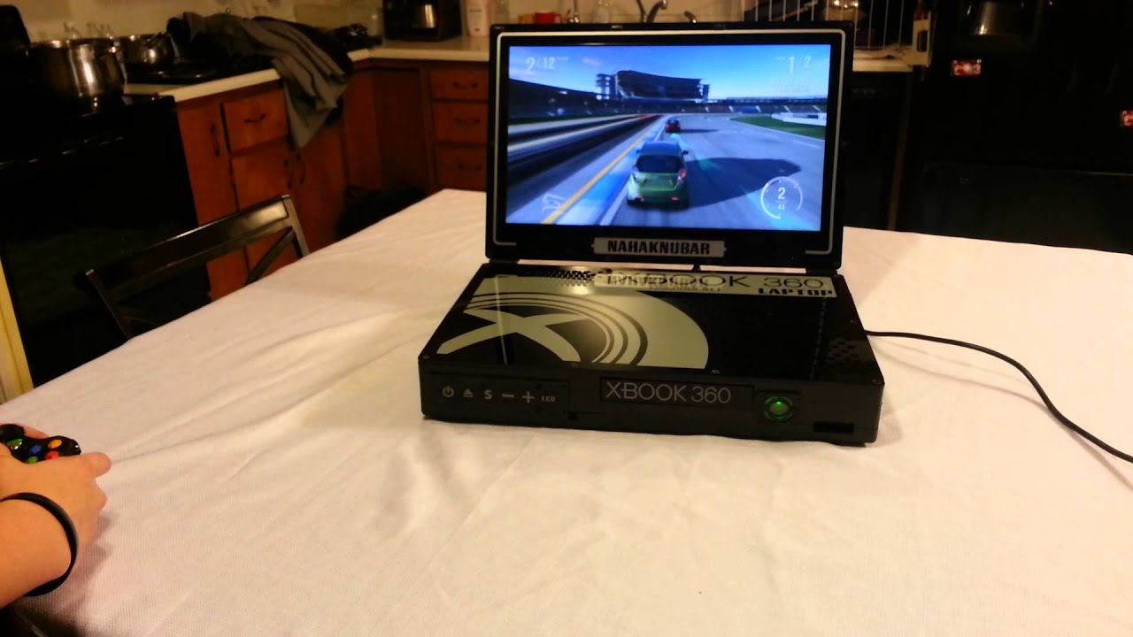 Xbox 360 Laptop Portable Custom For Sale YouTube