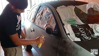 Pinte Mi Carro Con Aerosol Pinte Mi Ford Ka Con Pintura En Spray Como Pintar Un Auto Con Aerosol Youtube