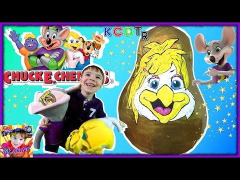 Thumbnail: GIANT Golden Surprise Egg Opening CHUCK E CHEESE'S Helen Henny Kids Video with Surprise Toys