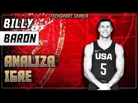 Billy Baron - Analiza igre | KK Crvena zvezda 2018/19