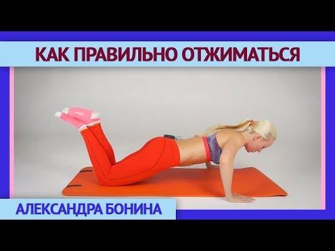 Как отжиматься с колен видео